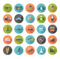 Set of modern flat icons. Travel. Royalty Free Stock Photos