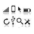 Set of modern gadget icons in white background Royalty Free Stock Image