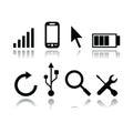 Set of modern gadget icons Royalty Free Stock Photo