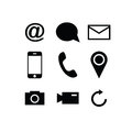 Set of modern gadget icons