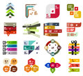 Set of modern infographic design templates and elements Royalty Free Stock Image