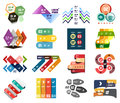 Set of modern infographic design templates and elements Royalty Free Stock Photos