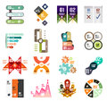 Set of modern infographic design templates and elements Stock Images