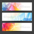 A set of modern vector banners with polygonal Royalty Free Stock Photo