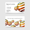 Set of modern vector business card templates Royalty Free Stock Photography