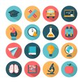 Set of modern vector school icons Royalty Free Stock Photo