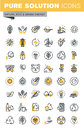 Set of modern vector thin line ecology icons