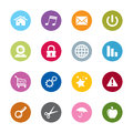 Set modern web universal icons different colors Stock Image