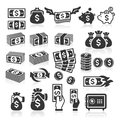 Set of money icons. Royalty Free Stock Photo