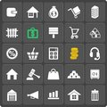 Set of money web and mobile icons vector in flat design real estate business concept Stock Photography