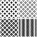 Set of monochrome geometric seamless patterns abstract can be used for wallpaper pattern fills web page background surface Stock Photos