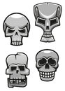 Set of monster skull mascots for tattoo or halloween design Royalty Free Stock Photo