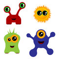 Set of monsters Royalty Free Stock Photo