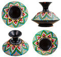 Set of moroccan ceramic vase with mosaic ornament Royalty Free Stock Photo
