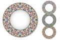 Set of mosaic plates