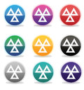 Set of mot ministry of transport badges icons m o t which have a d glossy effect Royalty Free Stock Image