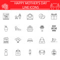 Set of mother`s day icons