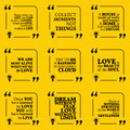 Set of motivational quotes about home moments love life dreams and gentleness simple note design typography poster vector Royalty Free Stock Photo