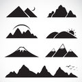 Set of mountain icons on white background Royalty Free Stock Images