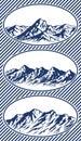 Set of mountain range silhouettes Royalty Free Stock Photo