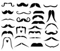 Set of moustaches Royalty Free Stock Image