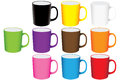 Set of mugs  Stock Photography