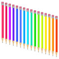 Set of multi-colored pens