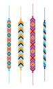 Set of multicolor friendship hippy bracelets