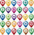 Set of multicolor navigation icons Royalty Free Stock Photography