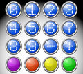 Set of multicolored glasses round buttons Royalty Free Stock Photo