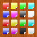 Set of multicolored and grunge stickers Royalty Free Stock Photography
