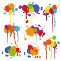 Set of multicolored stains and blots Royalty Free Stock Photo