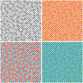 Set multicoloured seamless textures background abstract pattern from semicircle Stock Photography