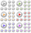 Set of multimedia buttons. Royalty Free Stock Images