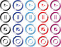 Set of multimedia colored buttons Royalty Free Stock Image