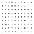 Set of multimedia icons for web and mobile isolated on white Royalty Free Stock Images