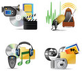 Set of multimedia internet icon Royalty Free Stock Images