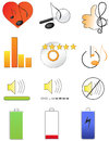 A set of music icons Stock Photos