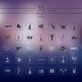 Set of music icons Royalty Free Stock Photo