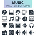 Set of music icons.