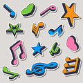 Set of music notes vector illustration Royalty Free Stock Image