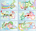 Set of musical backgrounds Stock Image