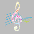 Set of Musical Notes Illustration Stock Photography
