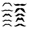 Set of mustache mustache collection retro style illus illustration Stock Image
