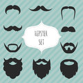 Set of mustaches and beards vintage elements