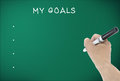 Set my goals on blackboard Royalty Free Stock Image