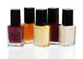 Set of nail polish Royalty Free Stock Image