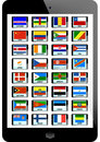 Set nation flag tablaet background Royalty Free Stock Photography
