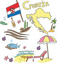 The set of national profile of the Croatia Royalty Free Stock Photo