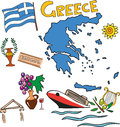The set of national profile of the Greece Royalty Free Stock Photo